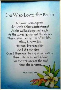 She Who Loves the Beach = ME
