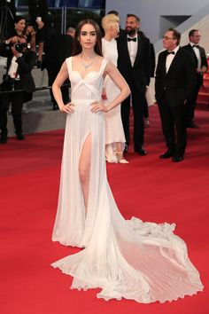 #LilyCollins #Okja #Cannes #RobandMariel #VincentOquendo #TWGartists #TWGredcarpet #Cannes2017