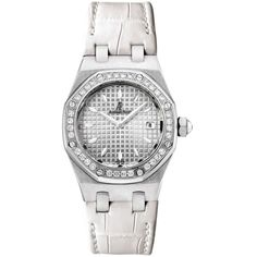 Pre-owned Audemars Piguet Royal Oak 67601ST.ZZ.D012CR.02 Stainless... (132.943.525 IDR) ❤ liked on Polyvore featuring jewelry, watches, stainless steel jewelry, quartz wrist watch, water resistant watches, white crown and audemars piguet watches