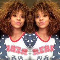 Tight natural curly hair