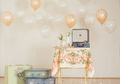 Styled by Little Vintage Rentals.... As seen on 100 Layer Cake:  http://www.100layercake.com/blog/2013/08/22/girly-vintage-bridal-shower-inspiration/  Vintage Bridal Shower inspiration | photo by Ananda Lima | 100 Layer Cake
