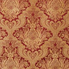 "Covington Balenciaga Antique Red 55"" Fabric Red Fabric, Fabric Art, Fabric Design, Covington Fabric, Wood Carving Patterns, Home Decor Fabric, Jacquard Weave, Upholstered Furniture, Textile Patterns"