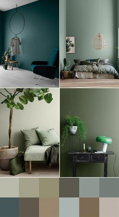 Living room green, Trending decor, Furniture trends, Home decor trends Home decor trends, House colors - Deco Color Trends 2018 2 Vert Vert Things meilleure couleur verte 2019 best Green - Colorful Interiors, Blue And Green Living Room, Home Decor Trends, Furniture Trends, Bedroom Green, Trending Decor, Bedroom Colors, Bedroom Color Schemes, House Colors