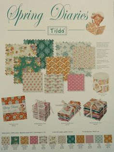 New Tilda Collection Spring 2016 CATALOGUE SPRING DIARIES I