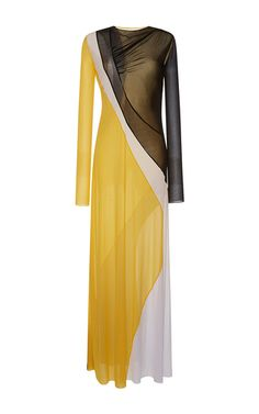 Color blocked pleated sheath dress by Emilio Pucci