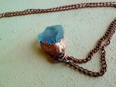 Sky Blue Seaglass Pendant Necklace by JennieVargasJewelry on Etsy,