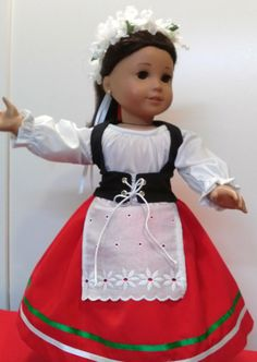 """American Girl Italian folk outfit. Fits other 18"""" dolls also."""