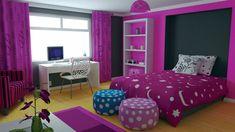 Kinderzimmergestaltung Mädchenzimmer Farbgestaltung in Violett