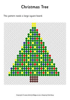 Christmas tree fuse bead pattern, decorated tree