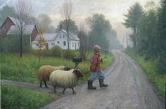"""""""Ready for the Fair"""" By Robert Duncan Realistic Paintings, Paintings I Love, Country Art, Country Life, Country Living, Robert Duncan Art, Farm Art, Western Art, Watercolor Landscape"""