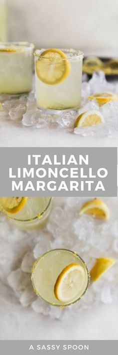 Italian Limoncello Margarita This sweet sour refreshing Limoncello Margarita is a Mexican classic with an Italian makeover! Made without lemonade concentrate just simple ingredients. The post Italian Limoncello Margarita appeared first on Getränk. Bar Drinks, Non Alcoholic Drinks, Cocktail Drinks, Cocktail Recipes, Mexican Cocktails, Recipes Dinner, Beverages, Limoncello, Refreshing Drinks