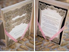 Our Muse - Laser-cut Mexico Beach Wedding - Be inspired by Kim & Jerad's silver Mexican wedding - laser-cut, emblem, metal, silver, monogram, calligraphy, box, hand, invitation, ribbon, gatefold, letterpress, foil stamp, one&only, palmilla, mexico, los cabos,