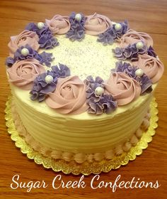 Simple Buttercream birthday cake  Sugar Creek Confections
