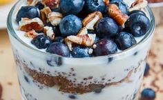 High Protein Breakfast - Blueberry Quinoa Parfait