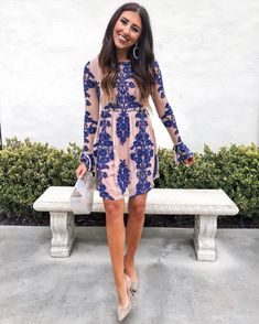 2020 Women Fashion blue flower dress black and gold floral dress – swetson Black Tie Wedding Guests, Formal Wedding Guests, Wedding Reception Outfit, Outfits Winter, Summer Wedding Outfits, Best Wedding Guest Dresses, Spring Fashion Outfits, Winter Dresses, Summer Dresses