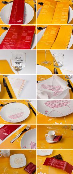 'The Waitress' - Interactive Reading Experience Typography, Behance, Design Inspiration, Reading, Bottle, Letterpress, Letterpress Printing, Flask, Reading Books