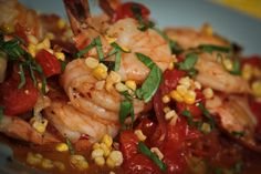 OMG!  I made this after seeing it on The Chew.  This was so easy to make and deeelish! - Michael Symon's Shrimp With Corn And Basil