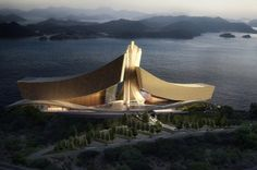 Crashing Waves: Tongyeong Music Hall by Form4 Architecture #WANAWARDS #Future Projects entry