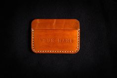 Check out this item in my Etsy shop https://www.etsy.com/listing/535904678/personalized-leather-card-holder-mens