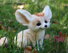 """Купить Фенёк, лисенок """"Флоки"""" - белый, лисичка, лиса, лисичка игрушка, фенек, войлочная игрушка"""