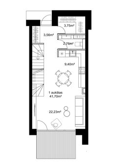 24 Istorijos | Levandų namai - 24 Istorijos Apartment Layout, Apartment Design, Building Plans, Building A House, Room Planning, Tiny House Design, Architecture Plan, Minimalist Home, House Floor Plans