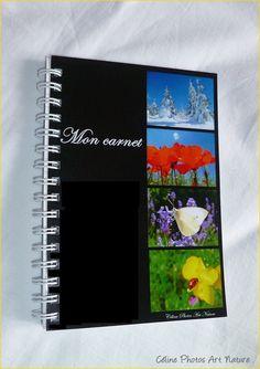 """Carnet de notes artisanal 10x15cm couverture avec des photos de fleurs""""Mon carnet"""" : Carnets, agendas par celinephotosartnature Artisanal, Photo Art, Nature, Notebook, Photos, Etsy, Day Planners, Notebooks, Handmade Gifts"""