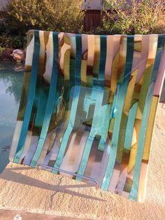 Sale  Price Reduced 10  Turquoise and Vanilla by SharonDavisGlass, $90.00