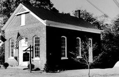Montville Museum - Montville, NJ - originally a schoolhouse - a church - a temperance hall - Town Hall & Montville Post Office.  c 1867 (photo 1963)