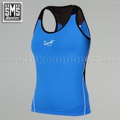 Top ciclismo donna Santini GLL FIERY Blu