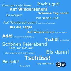 Wie man sich verabschieden kann // Variations of how to say goodbye in German