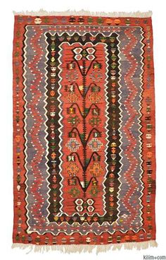Love these colors & I think it would look great with the sofa color - Vintage Esme Kilim