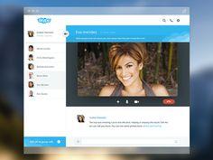 Skype mac version found on Dribbble.