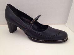 Nicole Shoes Womens Size 8 M Black Heels Sabrina Mary Janes Brazil #Nicole #MaryJanes #WeartoWork