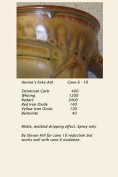 Hanna's Fake Ash Glaze, cone 6 oxidation