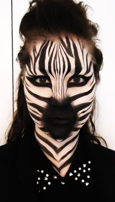Αποτέλεσμα εικόνας για zebra face paint ideas