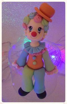 Palhaço porcelana fria, festa infantil, decoração, Candy Bar, circo, menino e menina .