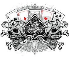 Gothic ace of spades with skull, grunge vintage design t shirts Skull Tattoos, Body Art Tattoos, Tattoo Drawings, Sleeve Tattoos, Grunge Vintage, Ace Of Spades Tattoo, Poker Tattoo, Spade Tattoo, Cool Symbols