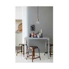 Danish Steel Bar Stools | Kitchen Counter Breakfast Barstools (€125) ❤ liked on Polyvore featuring home, furniture, stools and barstools