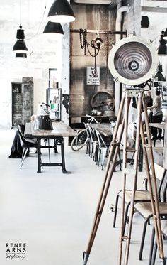 Like These Industrial DecorIdeas? Visit Us For More Industrial Urban Loft Creations Lampe Industrial, Vintage Industrial Furniture, Industrial Living, Industrial House, Industrial Style, Industrial Bedroom, Industrial Office, Kitchen Industrial, Industrial Interior Design