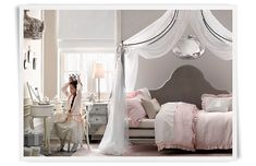 Like this idea for big girl bed! Won't take up room for her to play  Rooms | Restoration Hardware Baby & Child