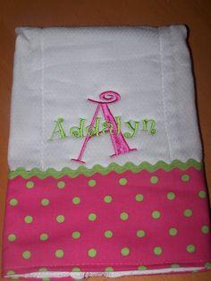 Polka dot fabric with ric rac