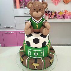 Bolo urso futebol