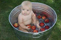 cute baby loves apples