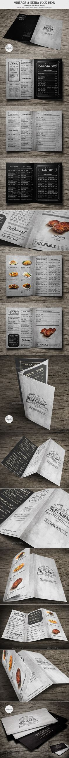 Vintage And Retro Food Menu - Food Menus Print Templates Download here : https://graphicriver.net/item/vintage-and-retro-food-menu/19287957?s_rank=143&ref=Al-fatih
