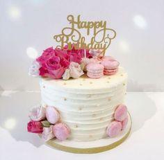 Happy Birthday Beautiful Cake for Birthday Ideas - Birthday Ideas Make it Happy Birthday Torte, Birthday Cake 30, Creative Birthday Cakes, Beautiful Birthday Cakes, Beautiful Cakes, Birthday Ideas, 18th Birthday Cakes Girl, Simple Birthday Cakes, Strawberry Birthday Cake