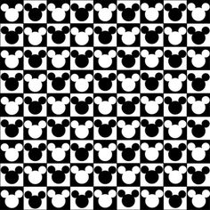 Mickey Mouse - Checkered Head Art Print