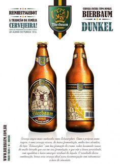 Cerveja Bierbaum Dunkel, estilo Schwarzbier, produzida por Cervejaria Bierbaum, Brasil. 5.8% ABV de álcool.