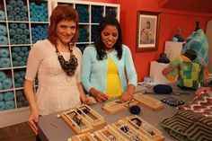 Knitting Daily TV with Vickie Howell is about knitting without needles. It's true, you can create beautiful, easy projects using a knitting or weaving loom instead.