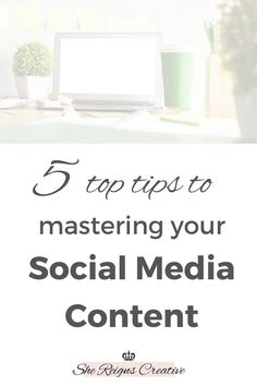 Even if you are familiar with different social media platforms in your personal life, harnessing them for your business is a very different task. Don't let all of the different social media platforms and algorithms overwhelm or discourage you! Keep reading to learn 5 ways to master your social media content. #tips #entrepreneur Business Coaching, Branding Your Business, Small Business Marketing, Personal Branding, Business Tips, Digital Marketing Strategy, Marketing Ideas, Content Marketing, Social Media Marketing