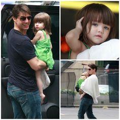 Actor - ator - hair - cabelo - pelo - beautiful - bonita - hermoso - eye - olho - ojo - blue - azul - moda - look - style - estilo - inspiration - inspiração - inspiración - fashion - casual - elegant - elegante - dress - vestido - Juicy Couture - green - verde - child - criança - niña - menina - girl - baby - bebê - daughter - filha - hija - father - pai - padre - dad - papai - papá - August - 2008 - Suri Cruise - Tom Cruise